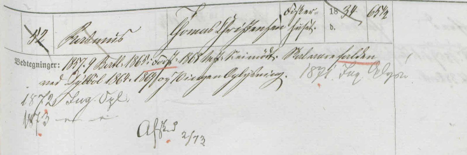 1864 Rasmus Thomasen